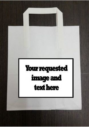 4 x Custom Image & Text Birthday Party Bags with Personalised Sticker